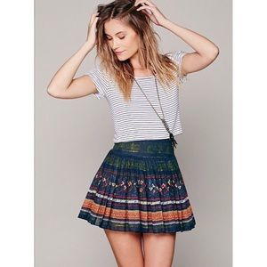 Free people pattern skirt